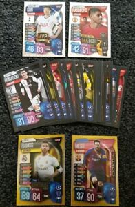 2019/20 Match Attax UEFA Soccer Cards - Lot of 20 cards incl 4 special