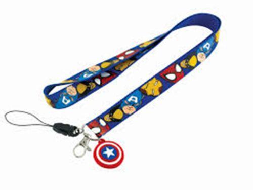 SUPERHERO Lanyard Batman Superman Spiderman Iron man Captain America Key chain