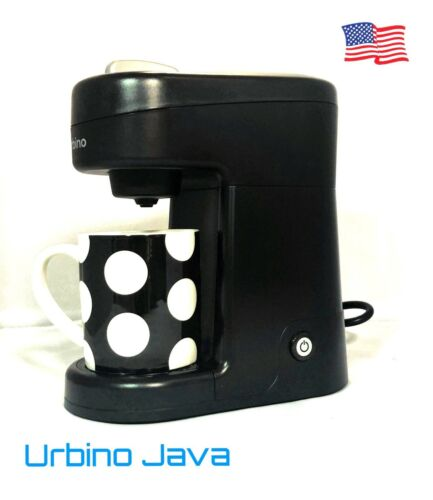 Travel size Urbino Java Single serve Coffee Maker Machine K Cup pods compatible