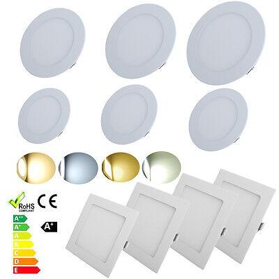 3W/6W/9W/12W/15W/18W 24W LED Recessed Ceiling Downlight Flat Panel Light Kits