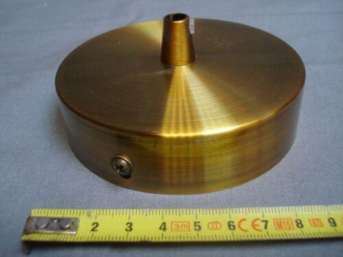 réf P1 pavillon plafonnier acier couleur or 1 sortie diamètre 99 mm