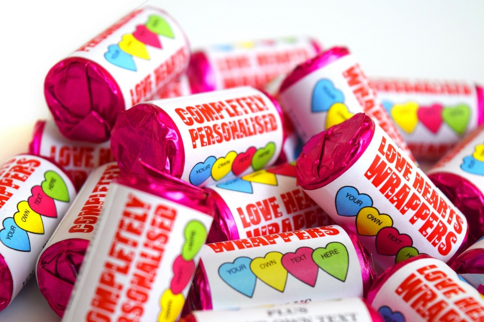 Completely Personalised   Hearts Hearts Hearts Sweets Wedding Favours-Hen Night-Mehndi | Les Produits De Base Sont