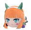 "SEGA Umamusume Pretty Derby mega jumbo Nesoberi stuffed plush /""Silence Suzuka/"""