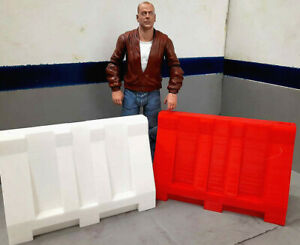 1-10-Scale-Jersey-Barrier-2-Pack-Rock-Crawler-Doll-House-Accessories-USA