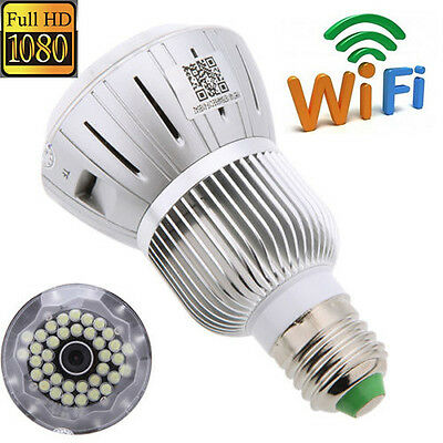 WIFI Full HD 1080P Hidden Camera LED Bulb Lamp Home Security Spy Motion Detector