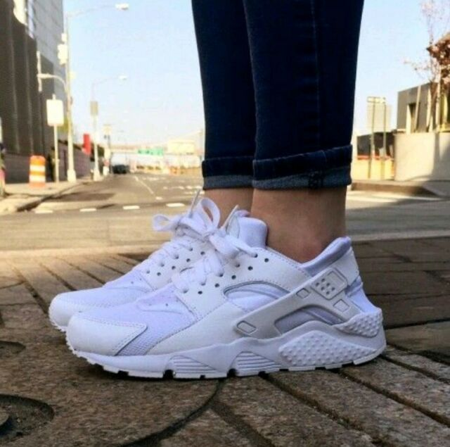 3079a6454a1b7 11.5 WOMEN S Nike Air Huarache Run Triple White Running classic 634835 108