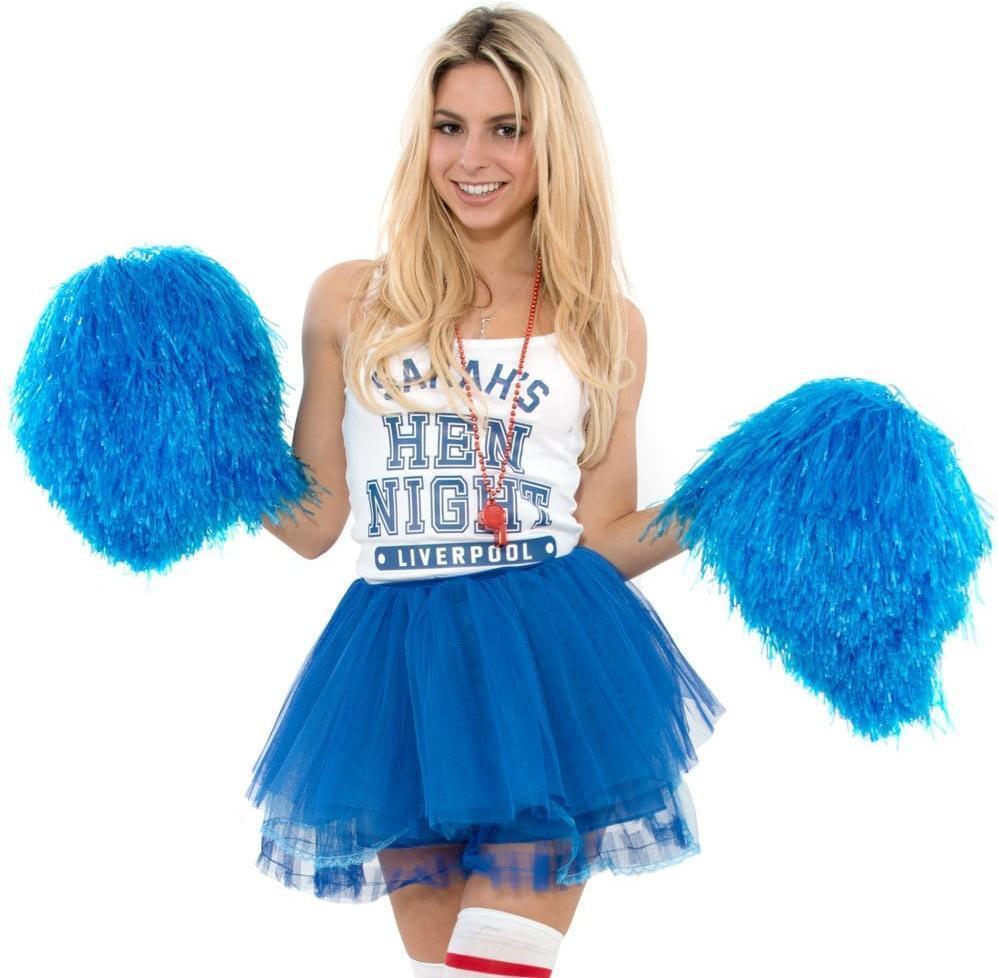 Fancy Dress Christmas Group Dance Sport Party USA Jumbo Cheerleader Pom Pom UK