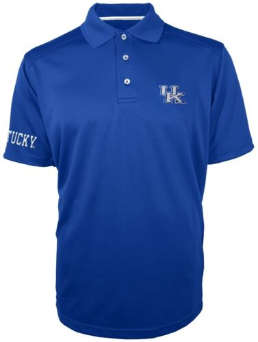 "Kentucky Wildcats Majestic NCAA /""Turnover/"" Performance Polo Shirt Blue"