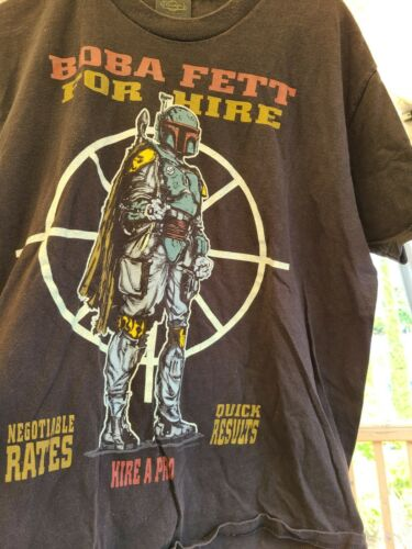 Vintage Boba Fett Star Wars Shirt Large Single Sti