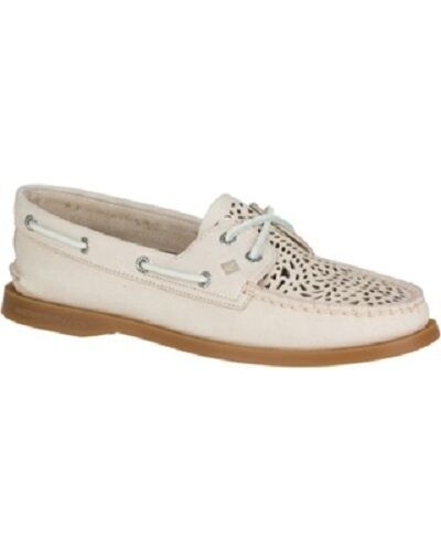 Sperry Top-Sider Boat A/O Villa Perf Ivory Boat Top-Sider Shoe 10 M 4d8287
