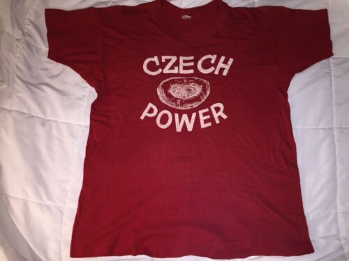 Vintage Mayo Spruce Czech Power Red T Shirt Men's