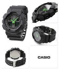 Black & Green Casio G-Shock Water Resistant Gents Sports Watch 2 Year Guarantee