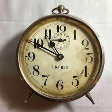 Antique 1914 Westclox Big Ben Alarm Clock - Peg Leg, Made in USA Collectible.