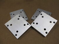 80/20 Inc T-Slot Custom Aluminum Base Plates 2.875 x .25 x 3.125 Long ANO (4PK)