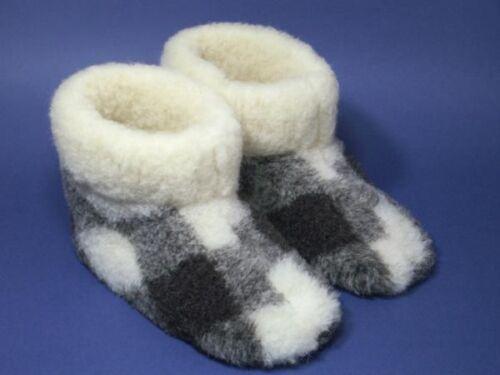 Pantoufles cabanes Chaussures cabanes Chaussure Hausschuh amener du mouton à carreaux NEUF
