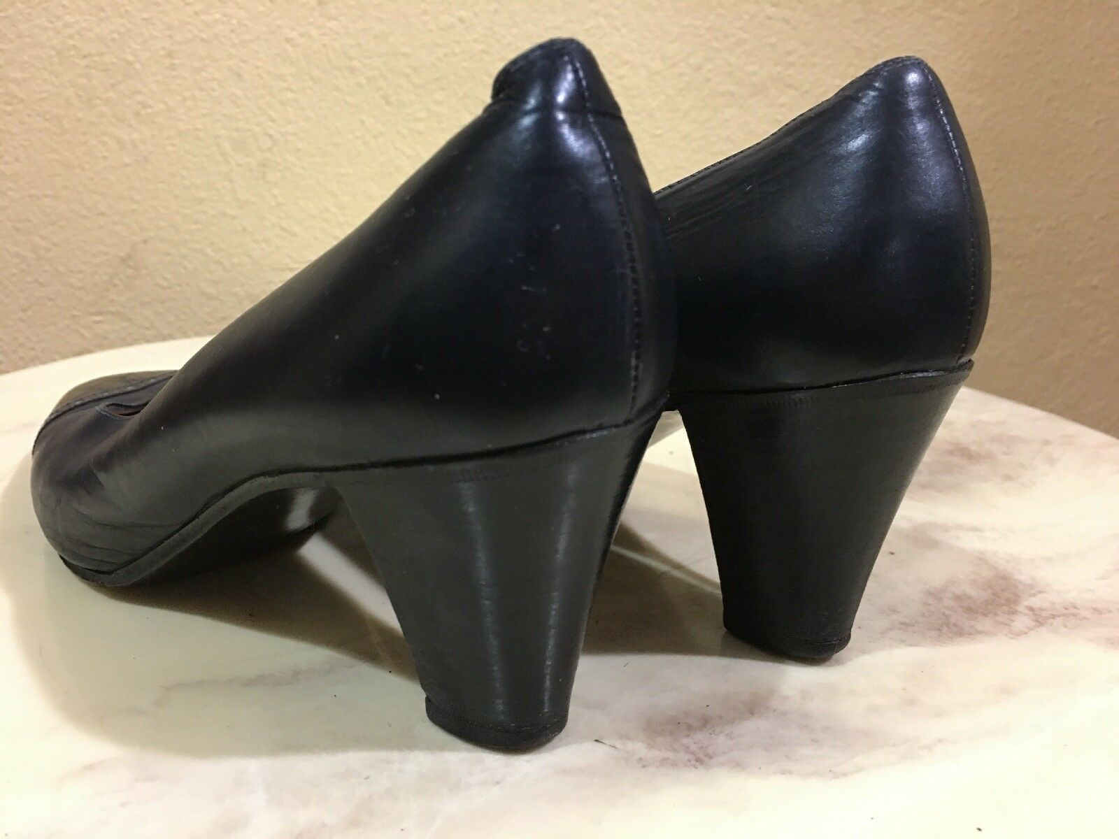 Celine Azul Negro Negro Negro De Cuero De Cocodrilo Para Mujer Zapatos De Salón EU 35-UK 2.5 - US 5 36d494