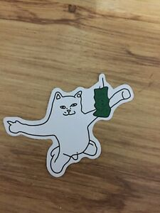 """Crack Girl Rip N Dip Cat Sticker 3/"""" Inches Full Color Water Proof"""