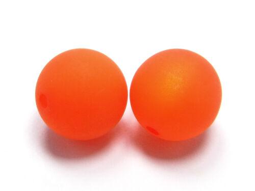 rund 5 x Polarisperlen matte Oberfläche; *1752 10 mm orange