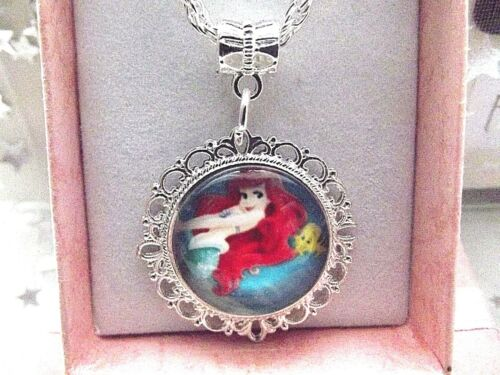 PRINCESS LITTLE  MERMAID ARIEL NECKLACE STRONG 18  INCH  GIFT BOX PARTY BIRTHDAY