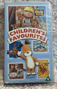 Children-039-s-Favourites-VHS-Video-Tape-Bob-the-Builder-Kipper-Retro-Vintage-TBLO