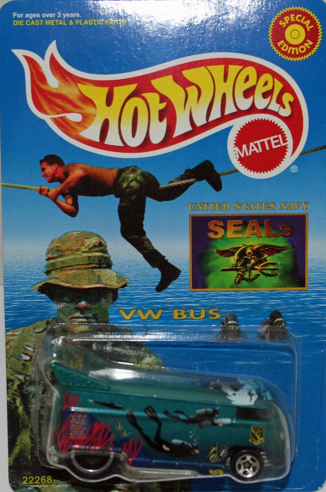 Hot Wheels Navy seal team Drag Drag Drag Bus. mint carded, 477f8c