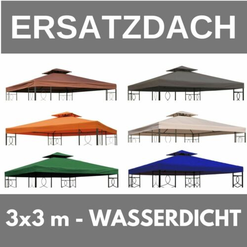 Ersatzdach Dach Wasserdicht für Pavillon 3x3 m Kaminabzug Partyzelt wasserfest