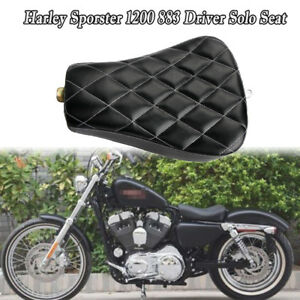 White Stitching Front Driver Solo Seat Cushion For Harley Sportster XL 1200 883