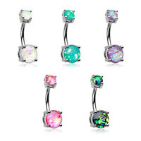 Opal Sparkle Belly Button Ring