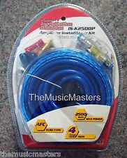 4 Gauge 2500 Watt Amplifier Installation Wiring Kit Car Power Amp Wire & Cables