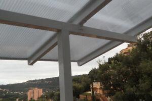Balkonuberdachung Mit Dachuberstand Und Pc Stegplatten 2 0 X 1 5 M