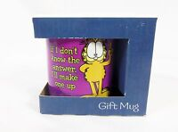 Leanin' Tree Ceramic Gift 12oz Coffee Mug Garfield If Don't Know The Answer