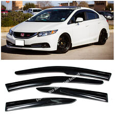 For 12-15 Honda Civic Mugen II Style Window Visors Rain Guard Defector FB6 4DR