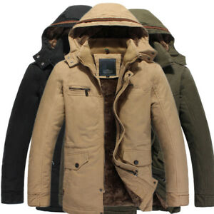 release date great deals usa cheap sale Details about Men's Clothes Furry Winter Puffer Jacket Parka Trench Coat  Hooded Outwear Punk