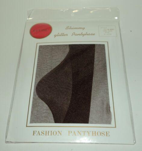 "Shimmy Glitter Pantyhose 100/% Nylon BROWN Size Regular Fits 5/'-5/'10/"" NIP"