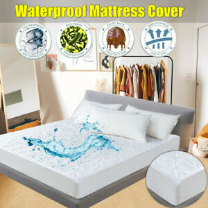 Mattress-Cover-Protector-Waterproof-Queen-King-Full-Size-Bed-Pad-Hypoallergenic