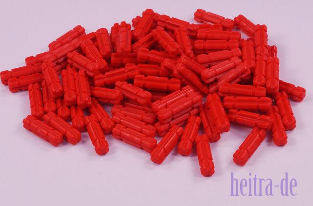 LEGO Technik - 100 x Achse mit Nut 2 Noppen lang rot / 32062 NEUWARE (L10)
