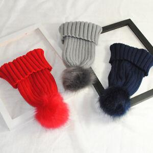e06f2c9f7ac Fashion Women Faux Fur Ball Cap Pom Poms Winter Beanie Hat Knitted ...
