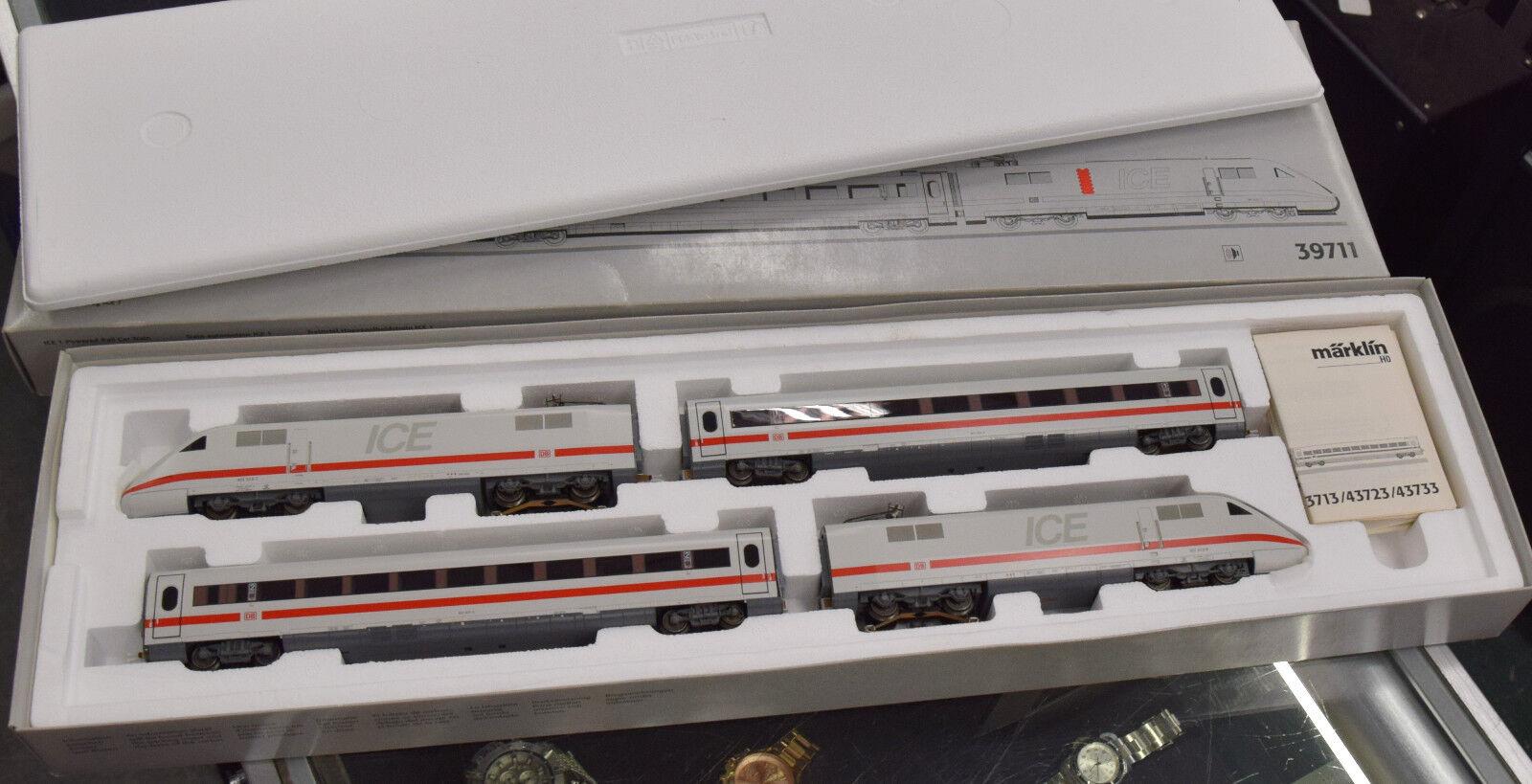 MARKLIN 39711 HO 4 CAR TRAIN SET ICE GERMAN FEDERAL RAILWAYS