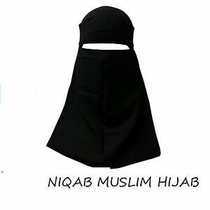 India Niqab Muslim Hijab Islamic Ramadon Veil Burqa Burka Nikab Single Layer