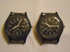 2 pc. , Vintage ,Type US military Vietnam War, olive green, watch.