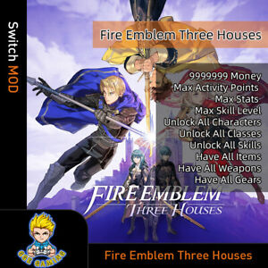 Fire-Emblem-Three-Houses-Switch-Mod-Max-Money-Activity-Points-Stats-Gears-Item
