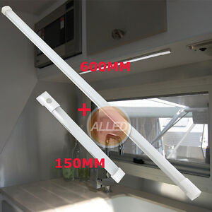 12V-LED-Strip-Light-600mm-Cool-White-Cabinet-Camp-Caravan-RV-with-Touch-Switch
