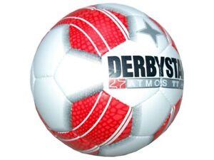 Derbystar Atmos TT Fußball Training Fussball weiß rot Gr.5 Sport Teamsport