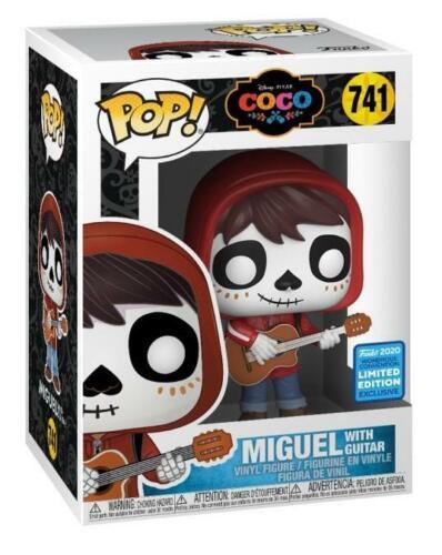 Funko Pop! F Disney COCO #741 MIGUEL WITH GUITAR ECCC 2020 con PROTECTOR BOX