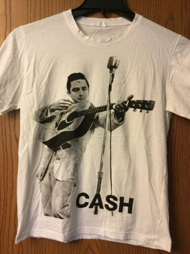 Johnny Cash.  Shirt.   White.  M