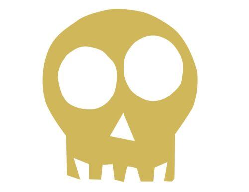Skull Style 1 Unfinished Wood Shape Cutout USA Made Halloween Theme