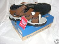 $70 Rugged Shark Brown Leather Sandals Boat/hike/water/city Fast Free Ship