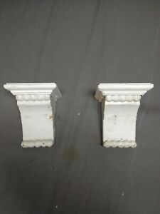 Small-Pair-Antique-Wood-Corbels-Shabby-Cottage-Chic-Vintage-13-19R
