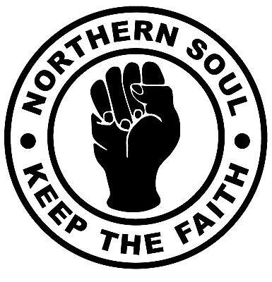 NORTHERN SOUL Keep The Faith IRON ON T-shirt Transfer Cool Music Retro