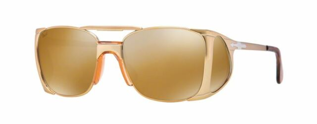 94edfb6c44 PERSOL 2435 S 55 1054W4 4 OLD GOLD GOLD MIRROR LENSES SUNGLASSES SOLE